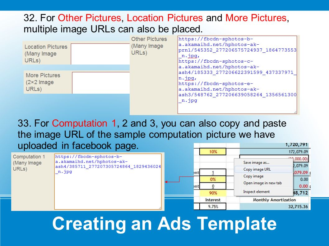 Creating an Ads Template 32.