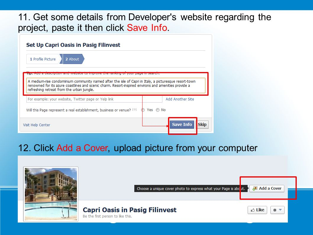 Creating a Facebook Page 11.