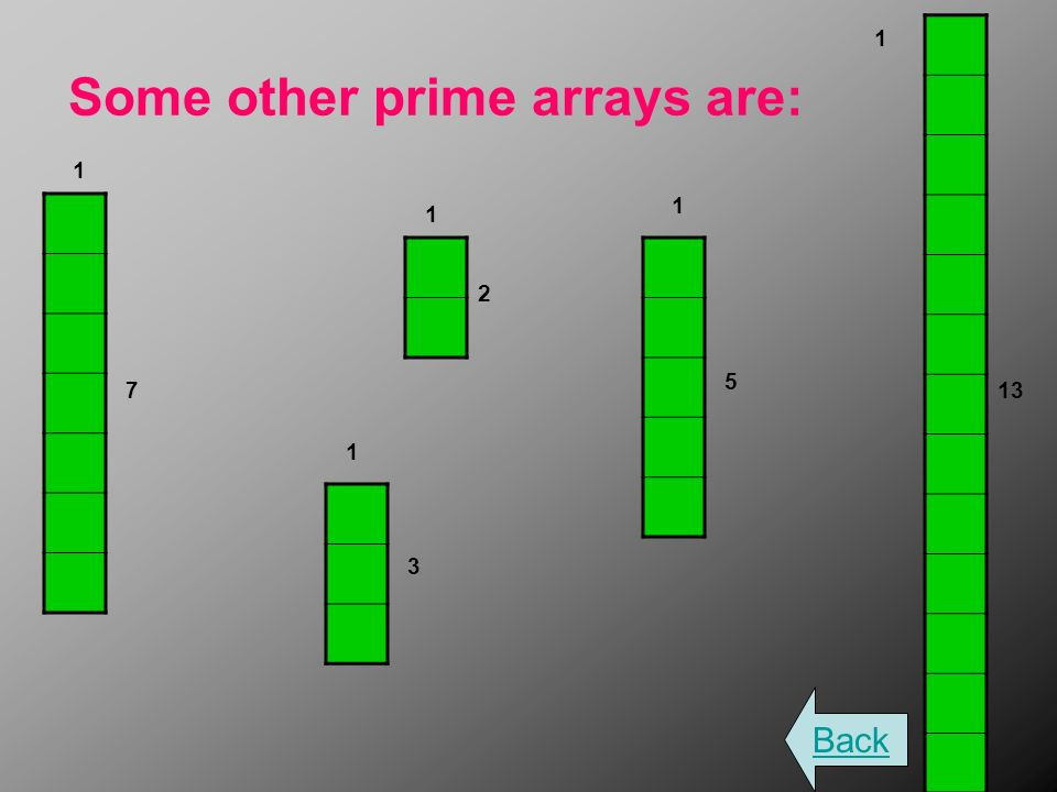 Some other prime arrays are: Back