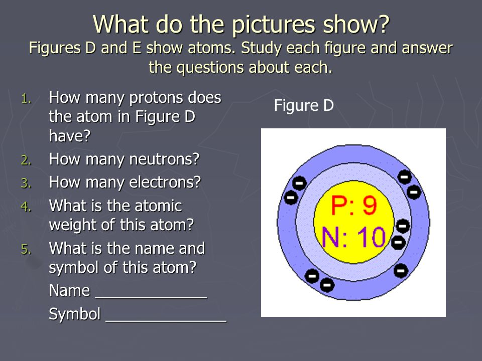 What do the pictures show. Figures D and E show atoms.