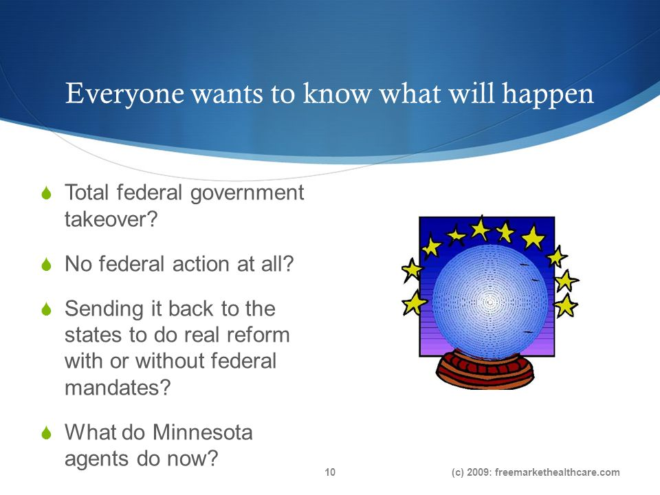 Everyone wants to know what will happen Total federal government takeover.