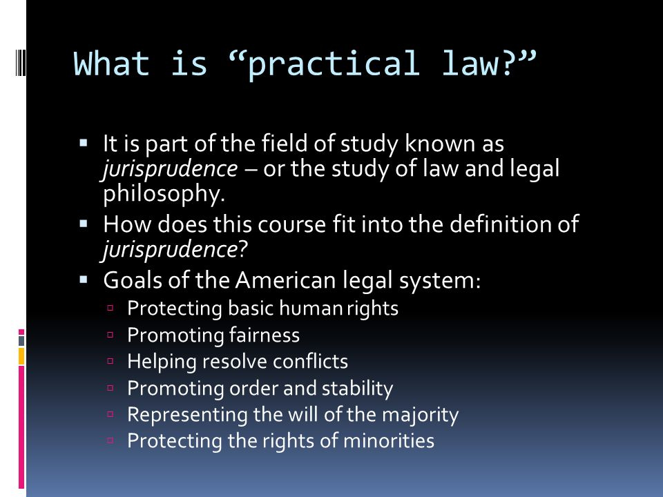 What is practical law.