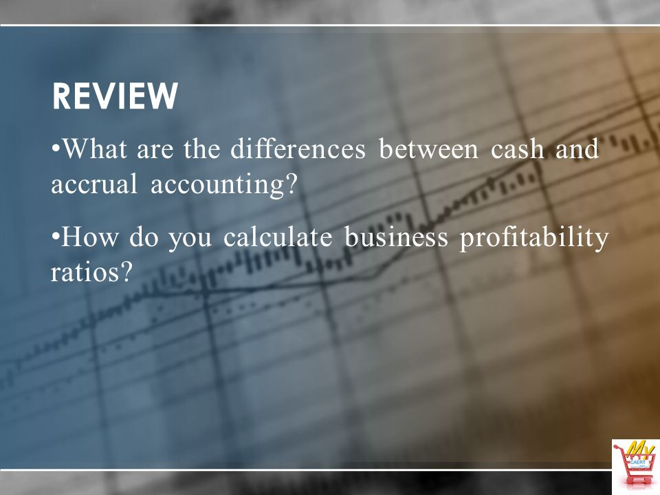 REVIEW What are the differences between cash and accrual accounting.