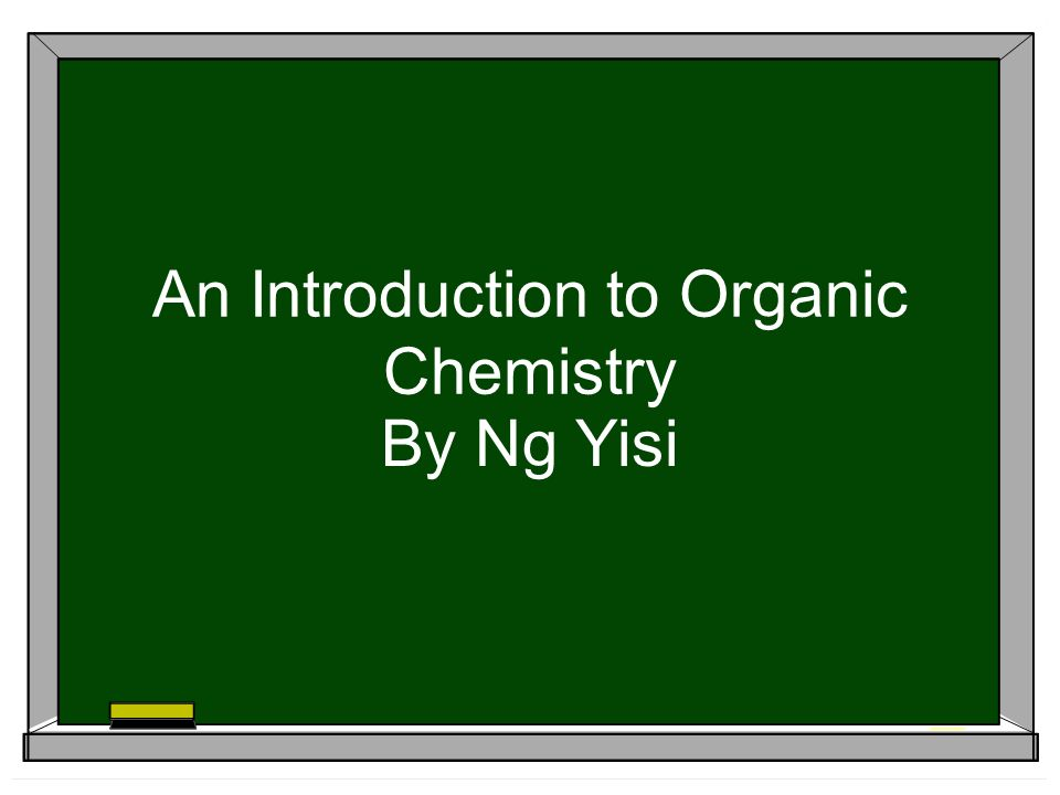 An Introduction to Organic Chemistry By Ng Yisi