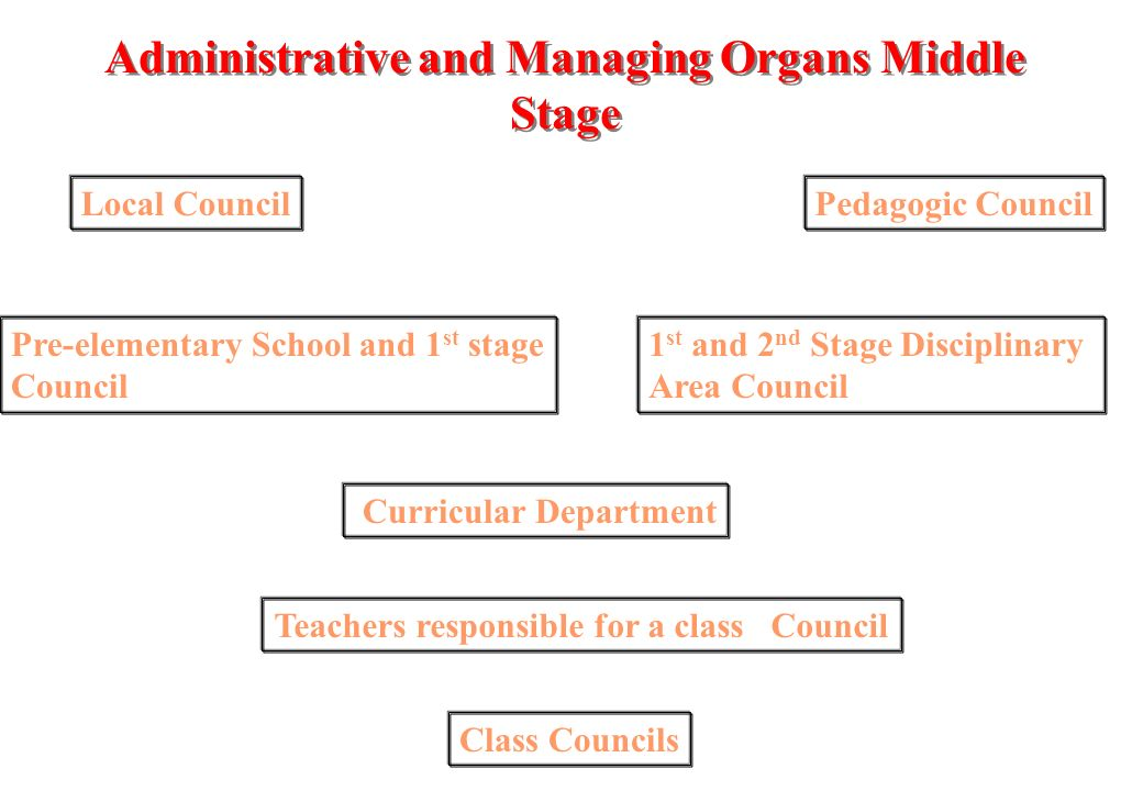 Administrative and Managing Organs Administrative Council One President- (President of Managing Council); One Vice-President- (One of the Vice-Presidents of the Managing Council); One Secretary- (Head of the Administrative Services).