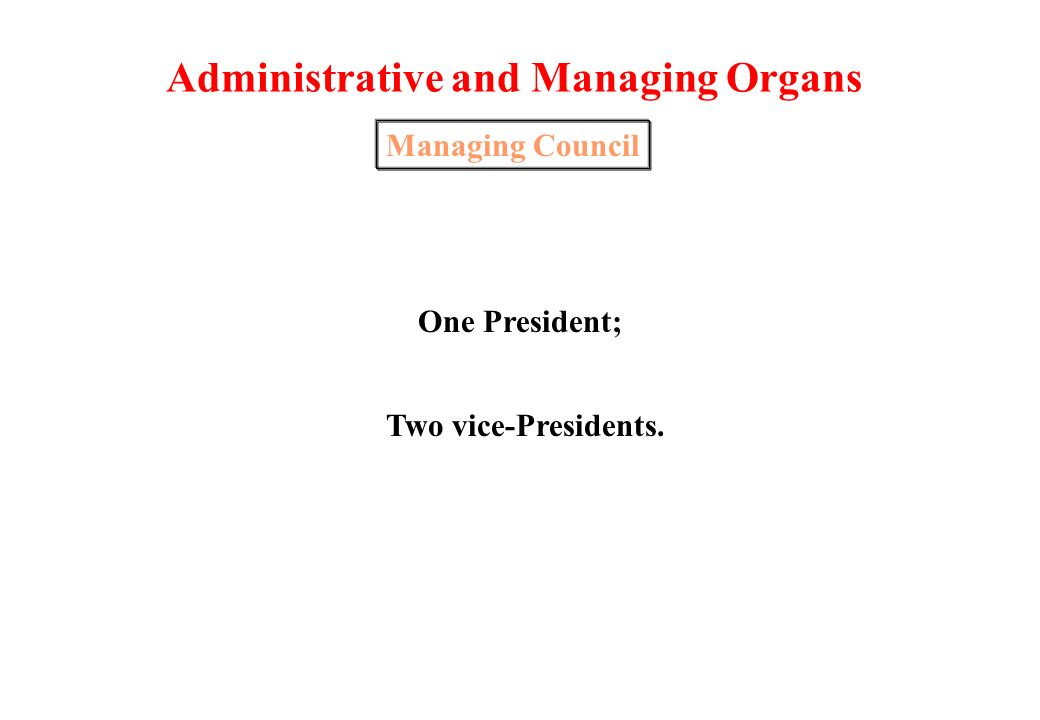 Administrative and Managing Organs School Assembly Teachers6 elements; Educational Auxiliaries 2 elements; Students1 element; Parents 2 elements; Autarchy1 element.