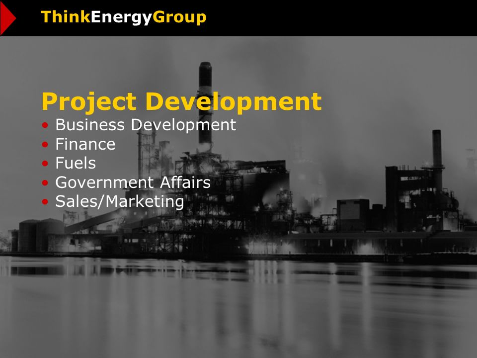 Project Development Business Development Finance Fuels Government Affairs Sales/Marketing ThinkEnergyGroup