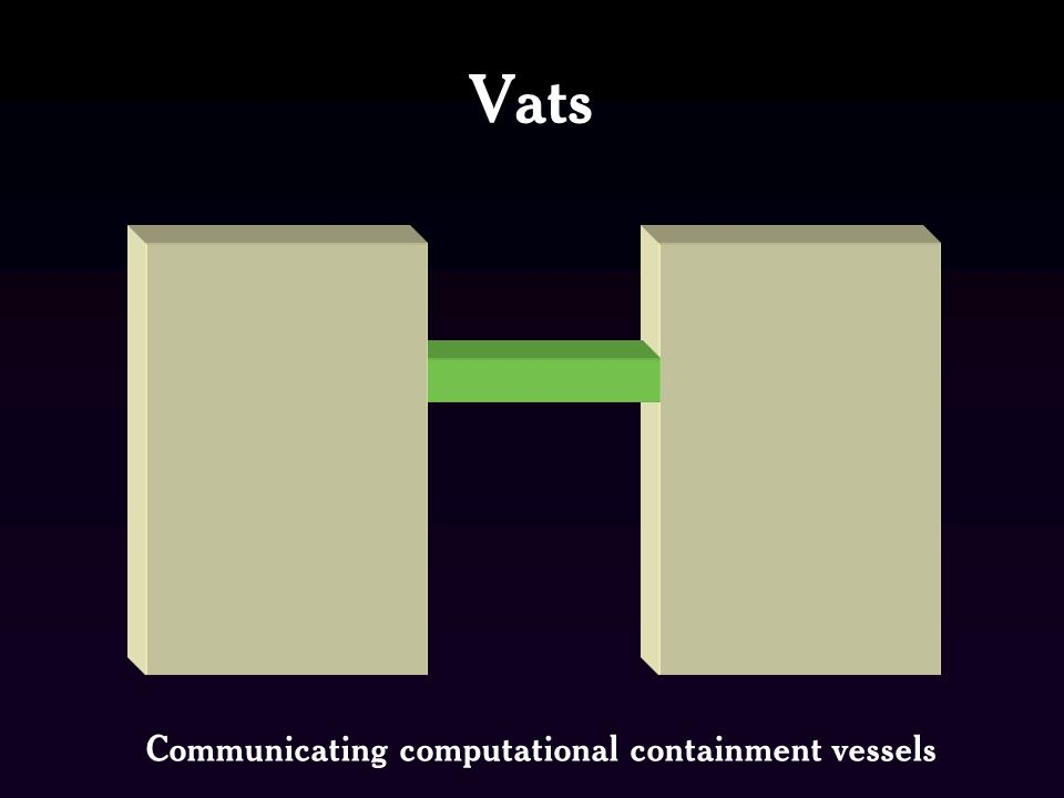 Vats Communicating computational containment vessels