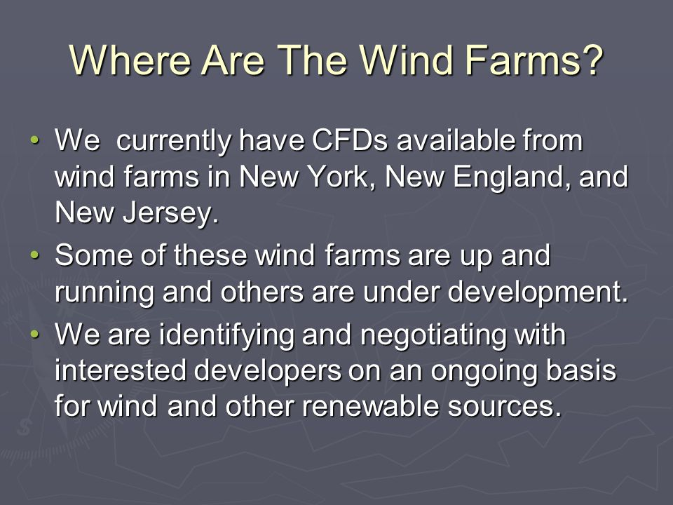 Where Are The Wind Farms.