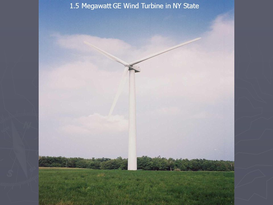 1.5 Megawatt GE Wind Turbine in NY State