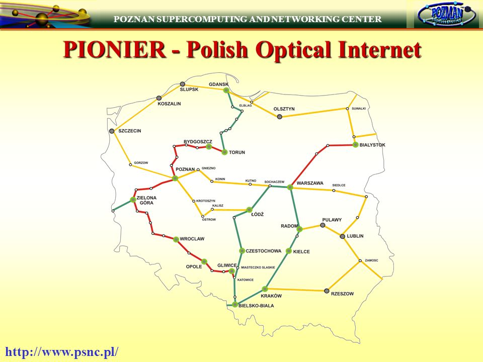 POZNAN SUPERCOMPUTING AND NETWORKING CENTER   PIONIER - Polish Optical Internet