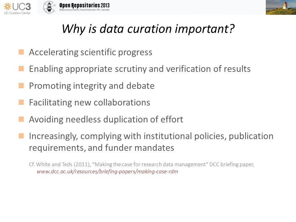 Why is data curation important.
