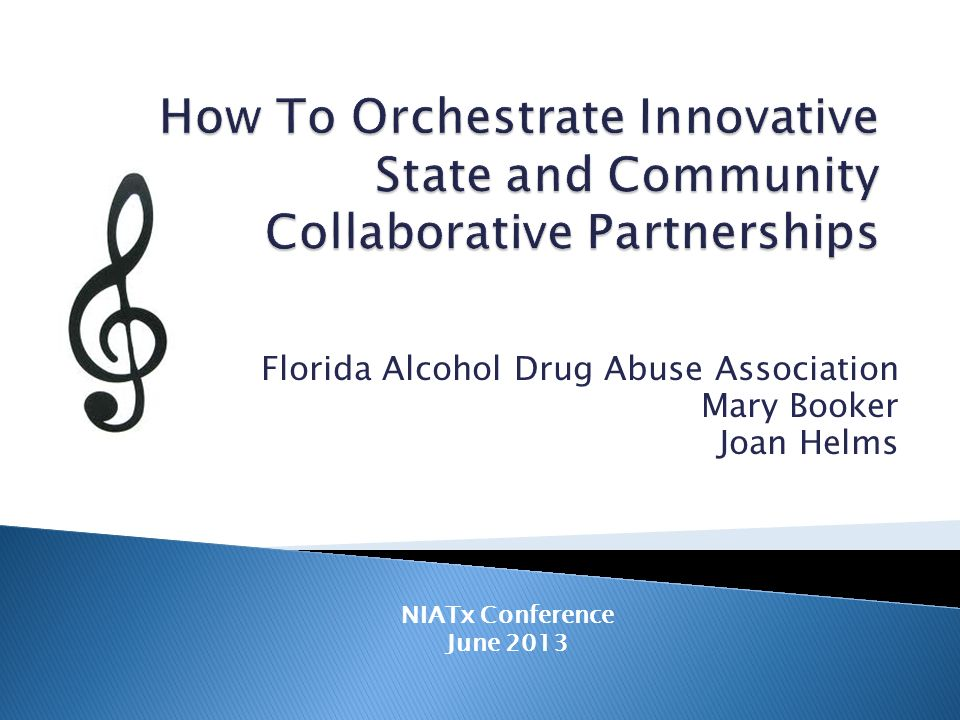 Florida Alcohol Drug Abuse Association Mary Booker Joan Helms NIATx Conference June 2013