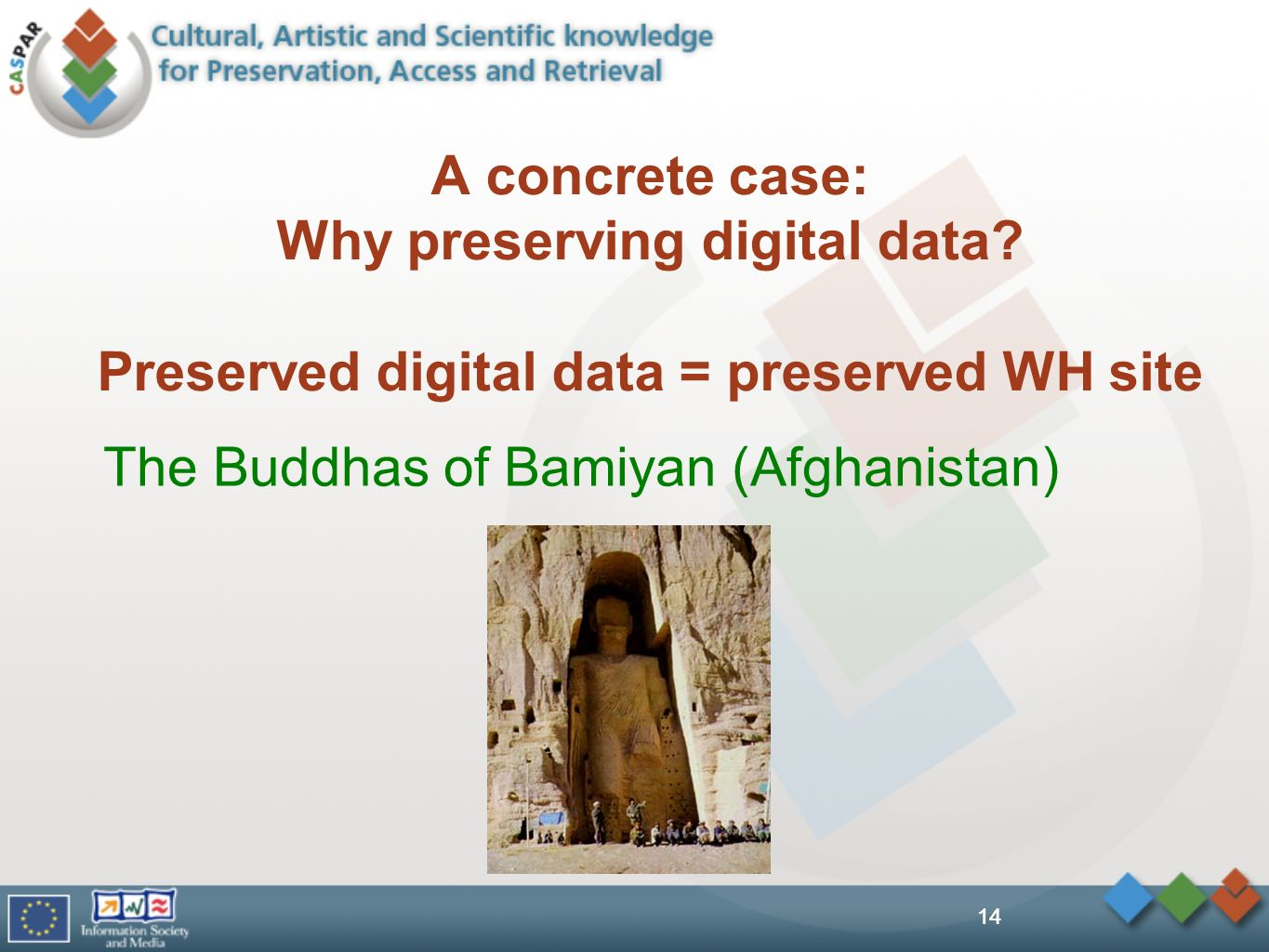 14 A concrete case: Why preserving digital data.