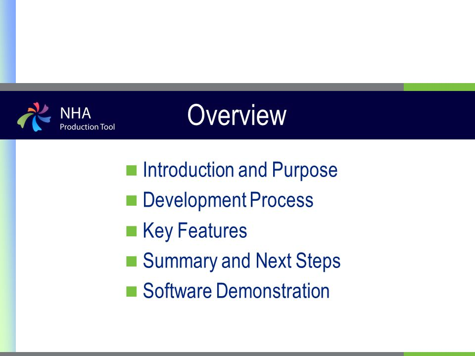 Overview Introduction and Purpose Development Process Key Features Summary and Next Steps Software Demonstration
