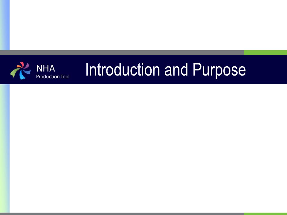 Introduction and Purpose