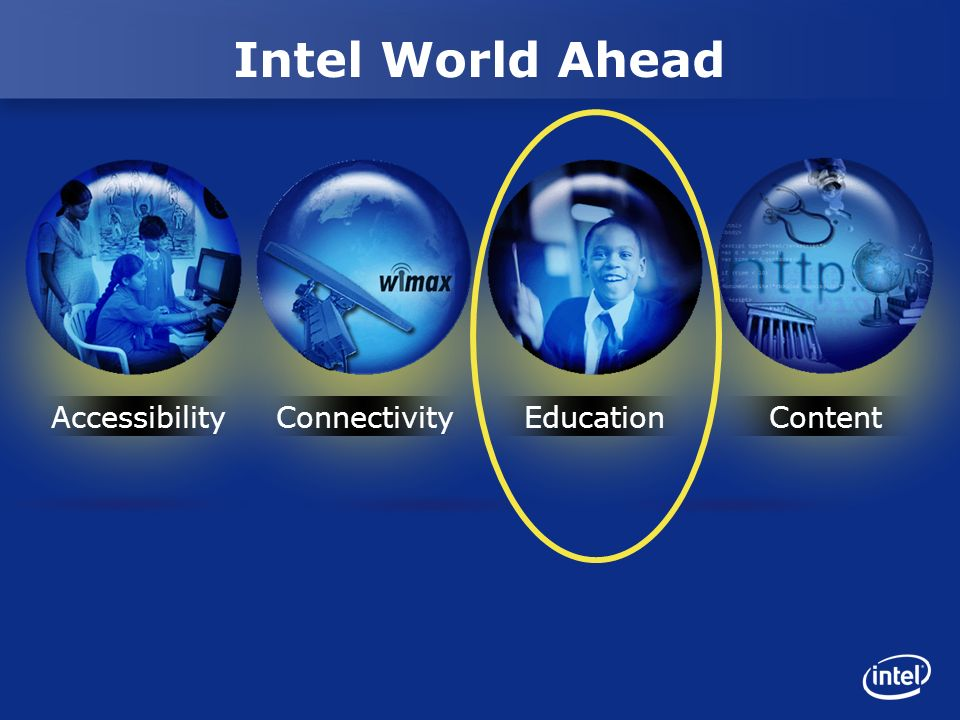 Intel World Ahead AccessibilityConnectivityEducationContent