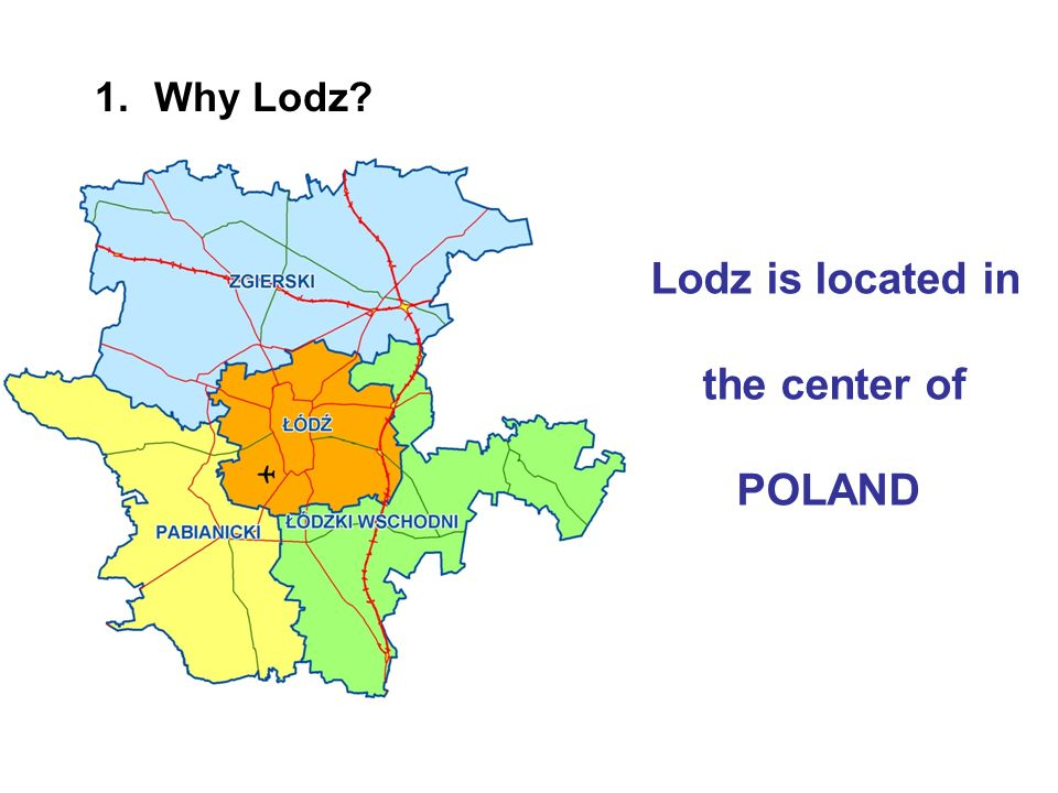 Lodz is located in the center of POLAND 1.Why Lodz