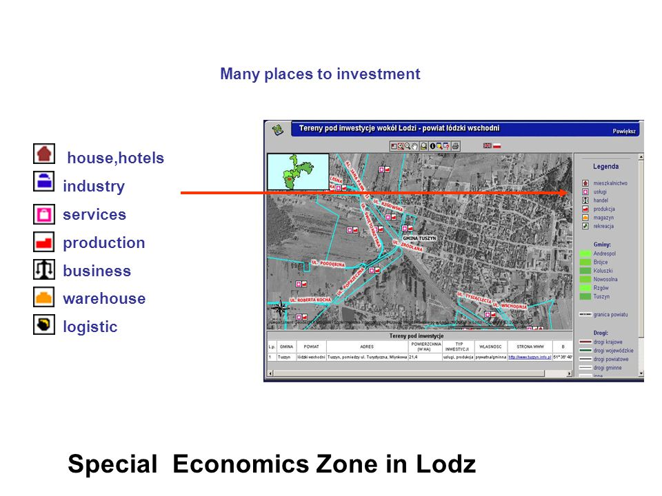 Many places to investment house,hotels industry services production business warehouse logistic Special Economics Zone in Lodz