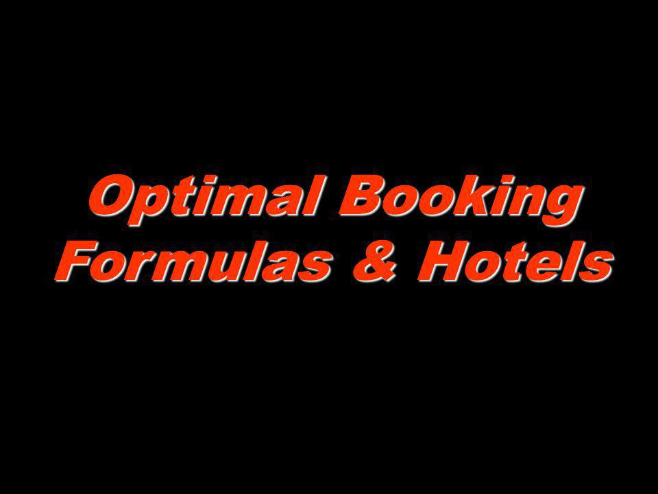 Optimal Booking Formulas & Hotels