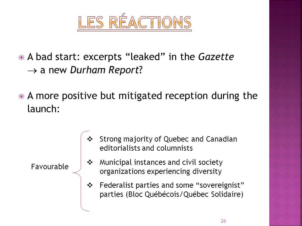 A bad start: excerpts leaked in the Gazette a new Durham Report.