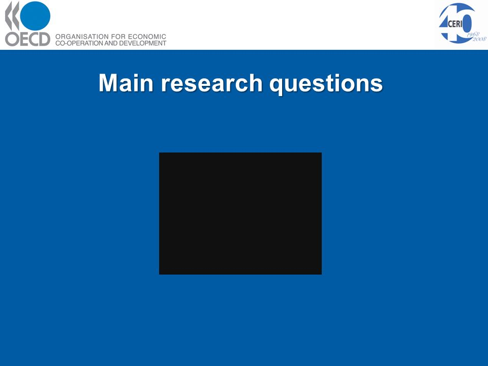 Main research questions