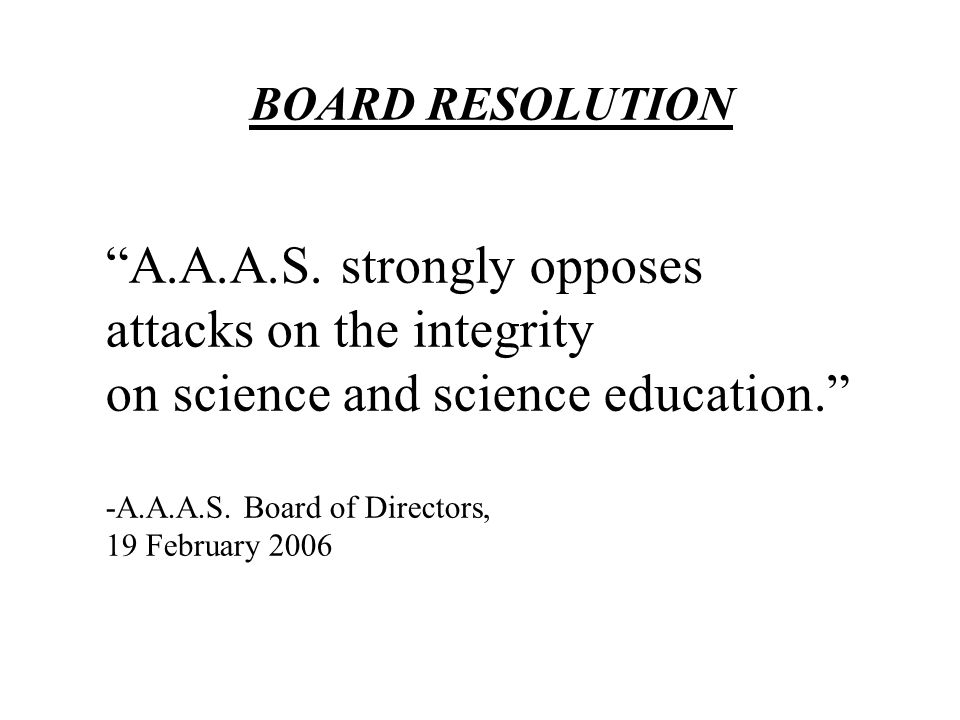 BOARD RESOLUTION A.A.A.S.