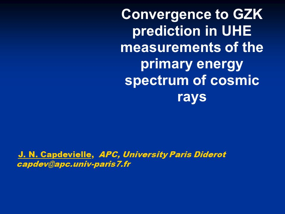 Convergence to GZK prediction in UHE measurements of the primary energy spectrum of cosmic rays J.