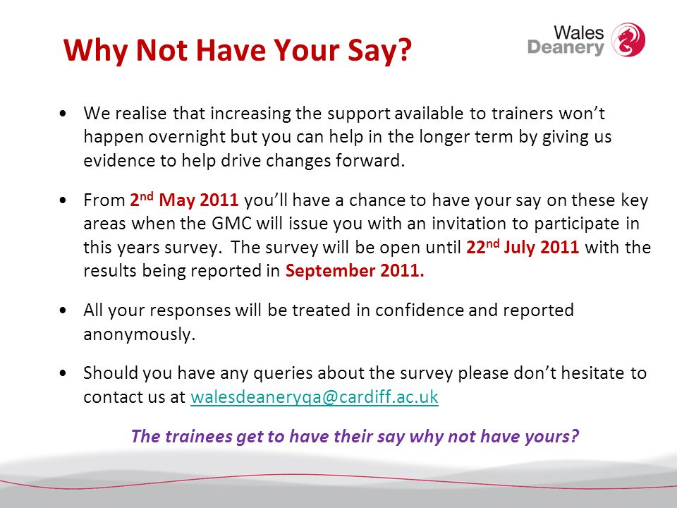 Why Not Have Your Say.