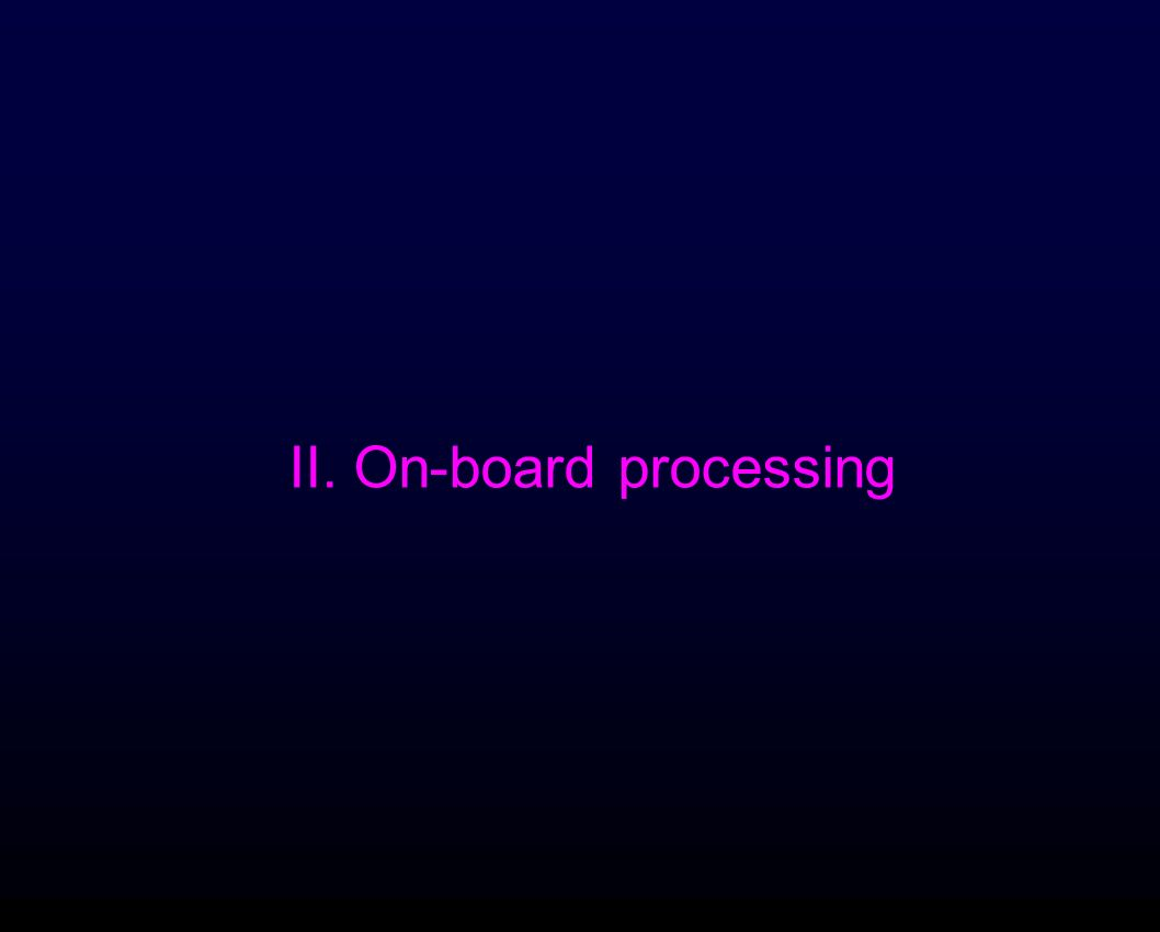 II. On-board processing