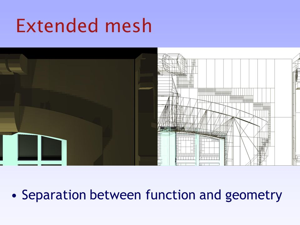 Extended mesh Separation between function and geometry