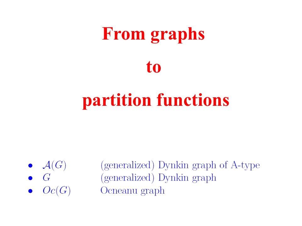 From graphs to partition functions