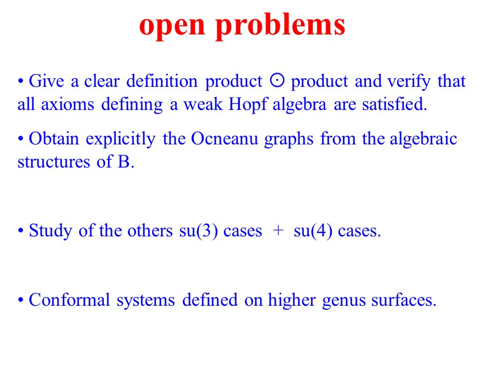 Give a clear definition product product and verify that all axioms defining a weak Hopf algebra are satisfied.