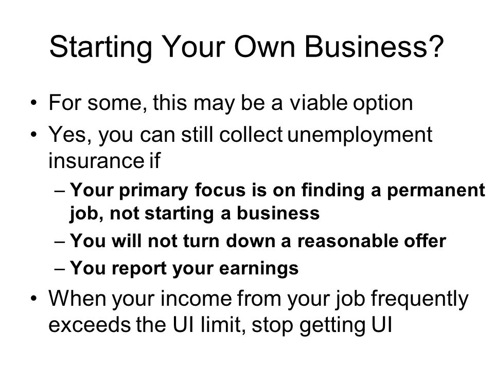 Starting Your Own Business.