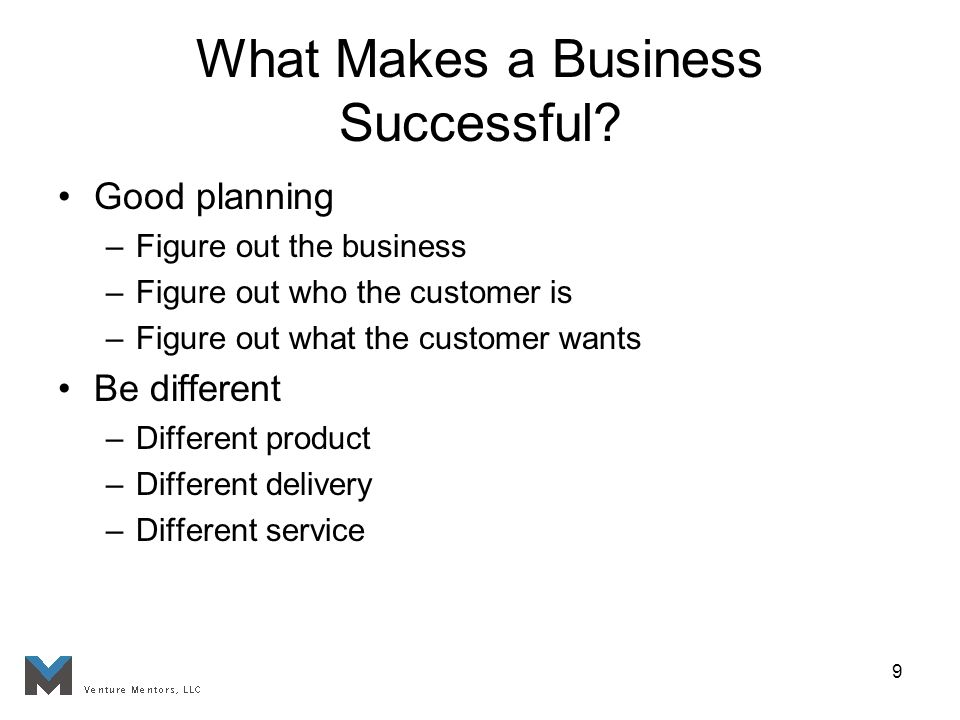 9 What Makes a Business Successful.