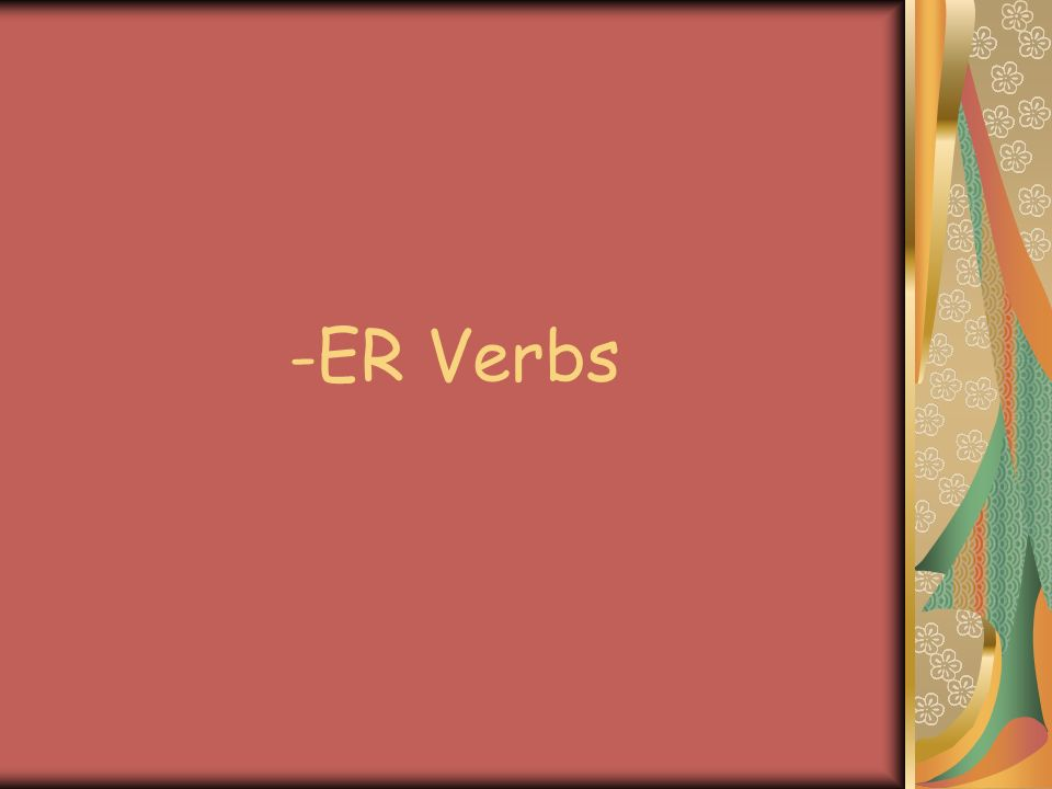 What is a verb .