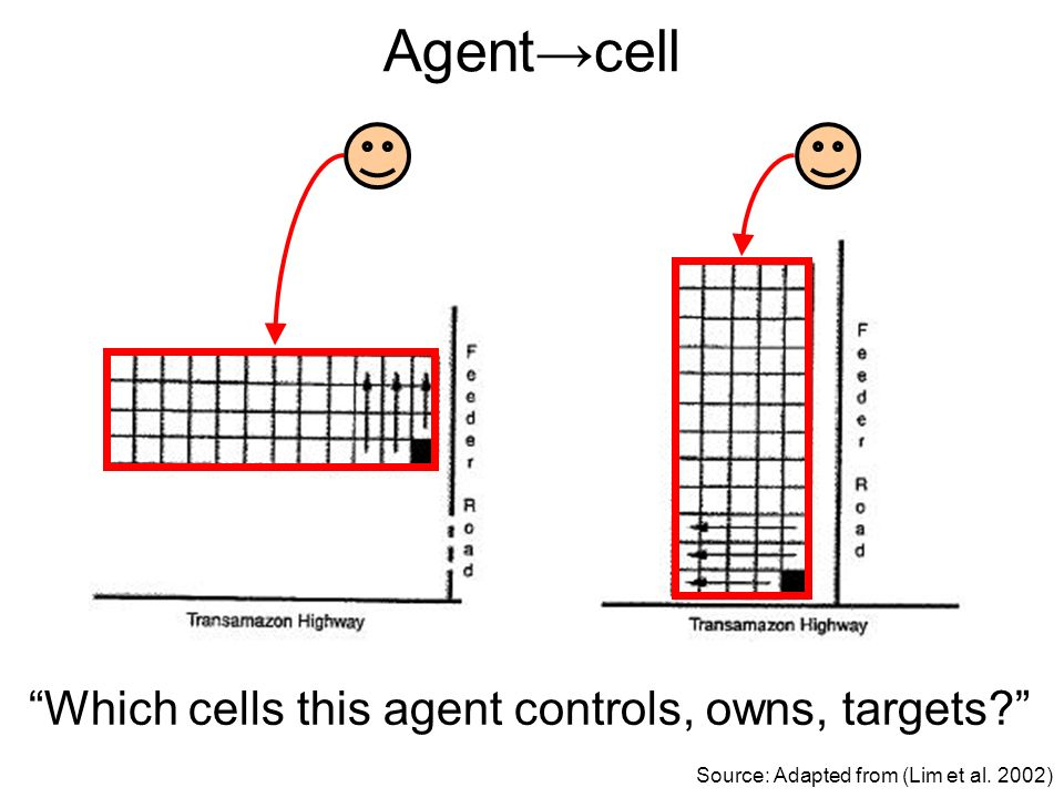 Agentcell Source: Adapted from (Lim et al. 2002) Which cells this agent controls, owns, targets