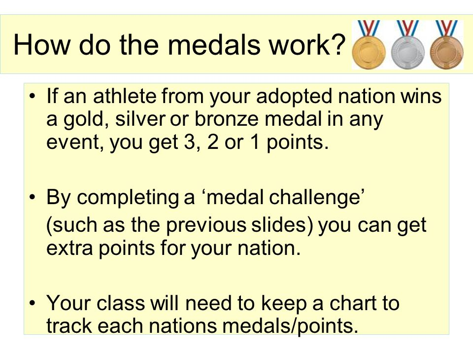 Your next medal challenge When is your nations first event.