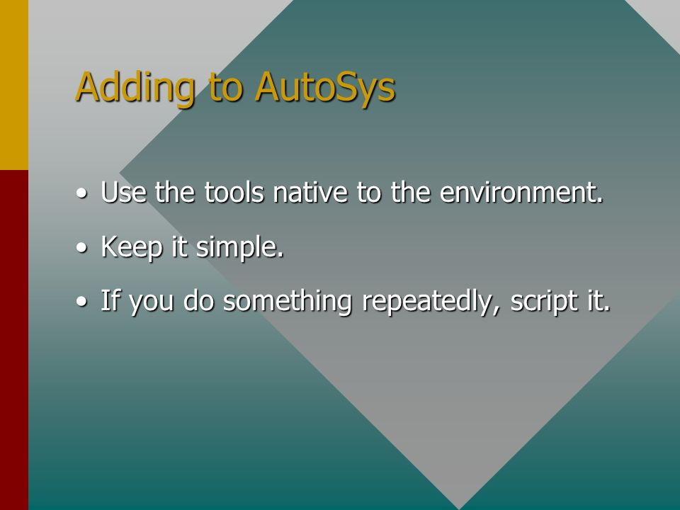 Enhancing AutoSys Copyright, 2003 © P Dominey Peter Dominey