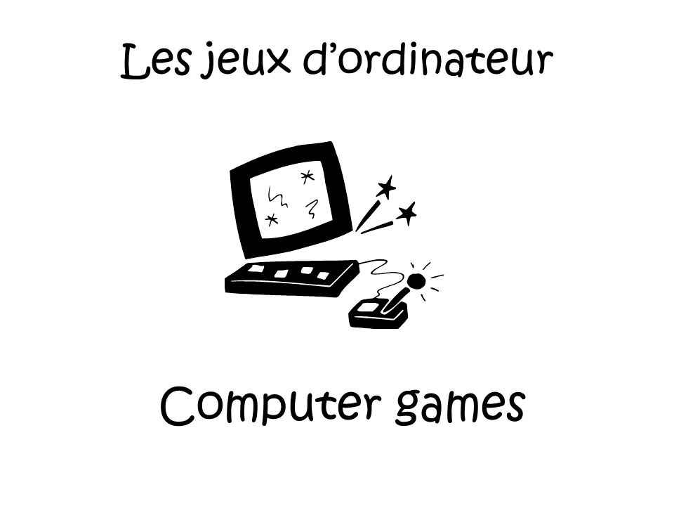 Les jeux video Video games