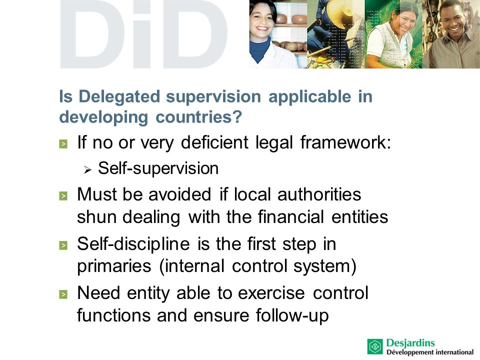 Is Delegated supervision applicable in developing countries.