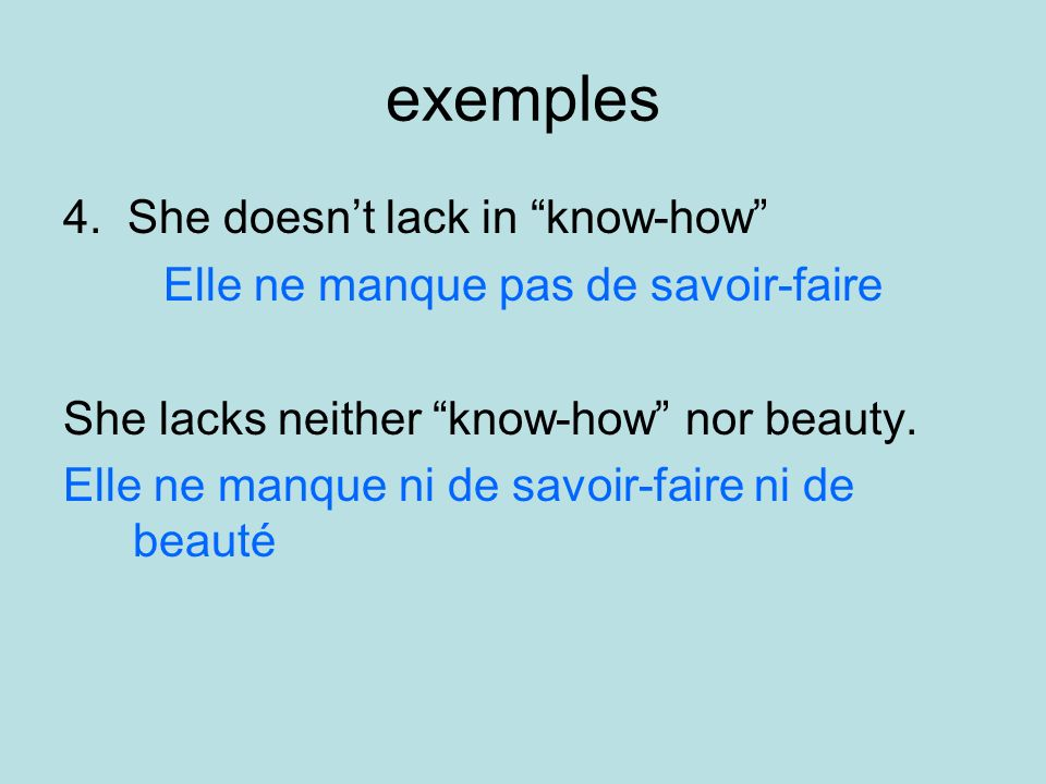 exemples 4.