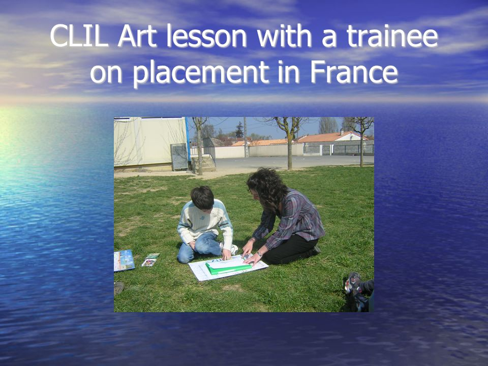 CLIL Art lesson with a trainee on placement in France