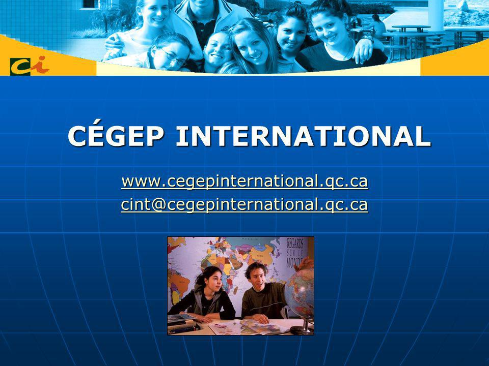 Cégep international a partner to step forward… Cégep international works closely with ACCC to develop international mobility Cégep international works closely with ACCC to develop international mobility Cégep international is a recognized partner managing mobility programs on behalf of Québec government for cégeps Cégep international is a recognized partner managing mobility programs on behalf of Québec government for cégeps Cégep international wish to be part of an integrated North American partnership Cégep international wish to be part of an integrated North American partnership