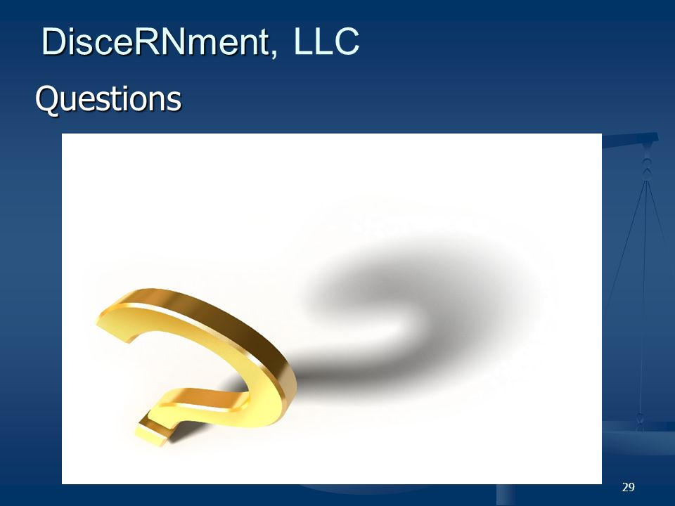 29 DisceRNment DisceRNment, LLC Questions