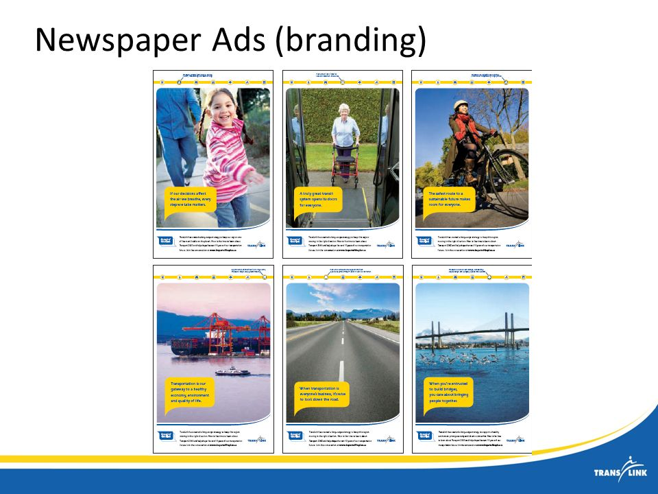Newspaper Ads (branding)