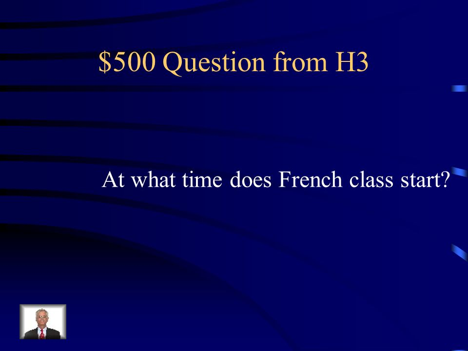$400 Answer from H3 Qui va danser