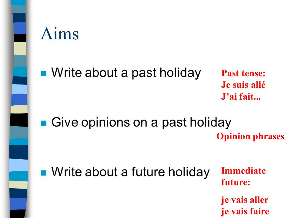 Holidays Writing assessment