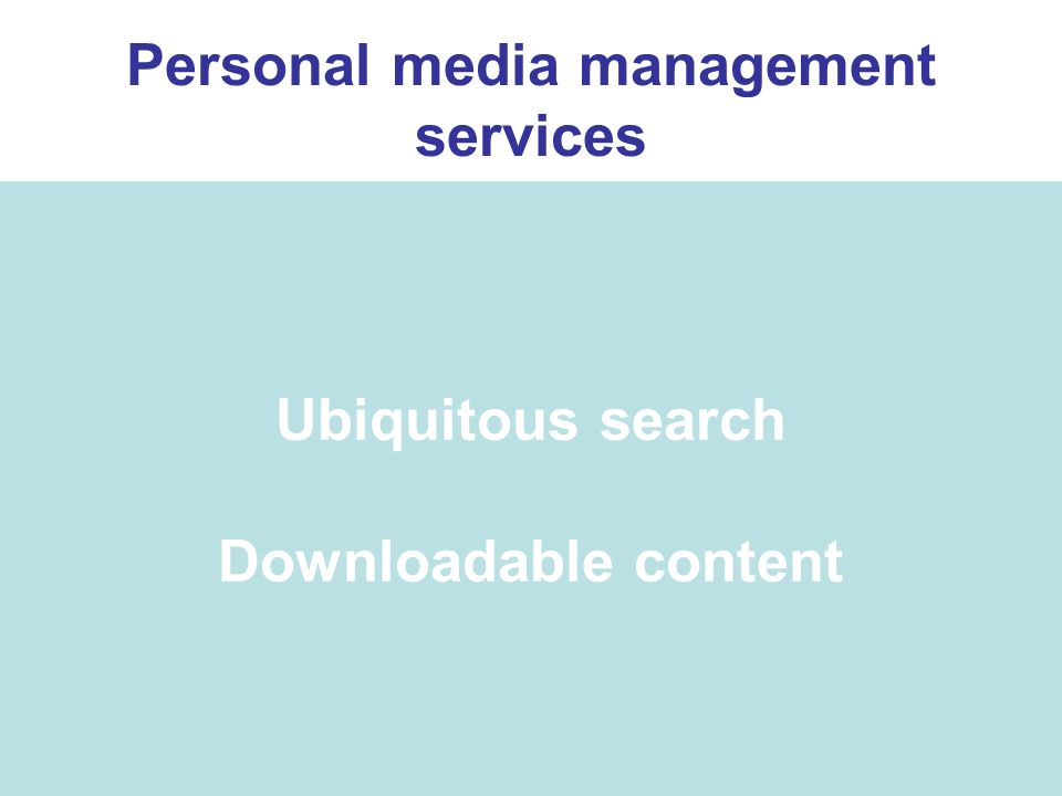 Ubiquitous search Downloadable content