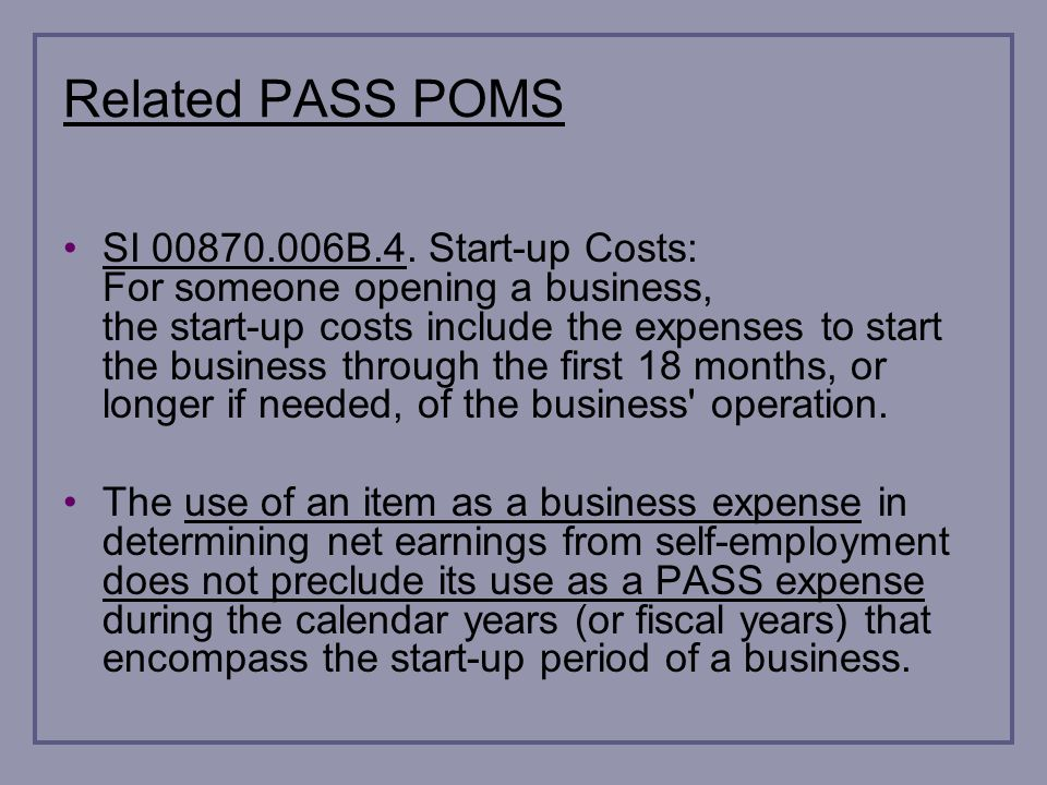 Related PASS POMS SI 00870.006B.4.